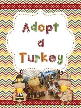 Adopt a Turkey: a Thanksgiving Writing Craftivity