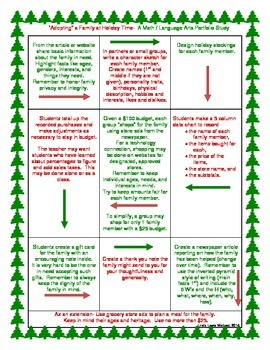 Adopting a Family at Holiday Time- A Math/Language Arts Portfolio Study