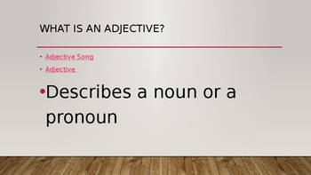 Adorable Adjectives