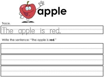 Kindergarten / First Grade - Writing High Frequency Words