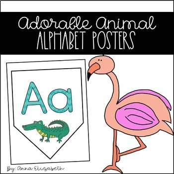 Adorable Animal Alphabet Posters