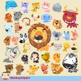 Adorable Animals Clipart Set
