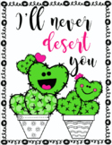 Adorable Cactus Valentine Posters with FREE Printable Valentine Cards