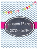Adorable Chevron and Bunting Binder Covers!