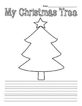 Adorable Christmas Writing Book for Young Writers with Writing Prompts