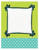 Adorable, Colorful Binder Covers! (Blank)