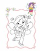 Adorable Fairies Coloring Book - 10 coloring pages