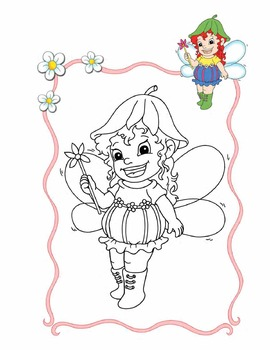 Adorable Fairies Coloring Book - 10 coloring pages by Energy and ...
