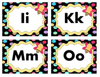 Adorable Flower and Bee Theme Word Wall Labels