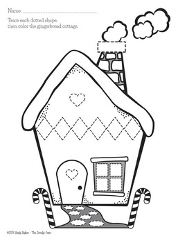Gingerbread Boy and House - Shape Tracing and Graphing Activities