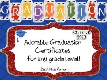 Adorable Graduation Certificates