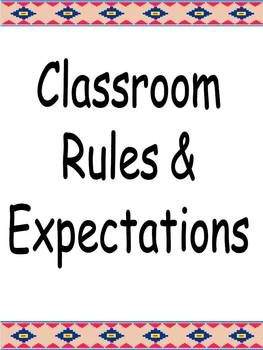 Adorable Illustrated Classroom Rules Bulletin Board and Po