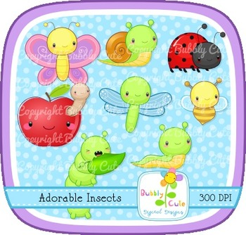 Adorable Insects Clip Art