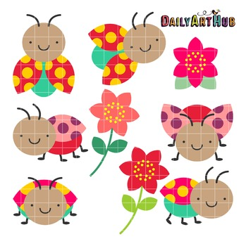 Adorable Ladybugs Clip Art - Great for Art Class Projects!