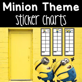 Minion Sticker Charts