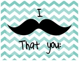 Adorable Moustache Themed Class Rules
