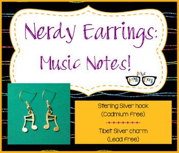 Adorable Music Note Earrings