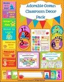Adorable Ocean Classroom Decor Pack (Clip Chart, Calendar, & More!)