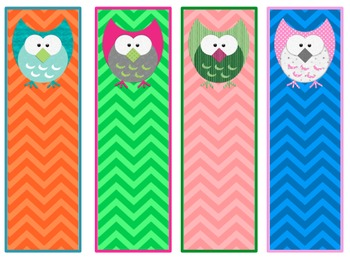 Adorable Owl Bookmarks