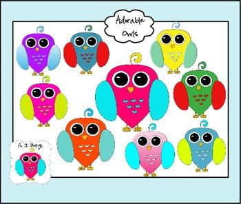 Adorable Owl Clip Art Set