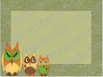 Labels: Owl Themed (natural colors), 10 per page
