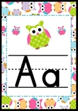 Adorable Owl Themed Alphabet Letter Posters