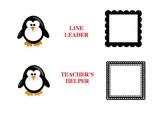Adorable Penguin-Themed Classroom Job Chart, Editable