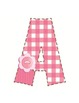 Adorable Pink Gingham Bulletin Board Letters or Word Wall Letters Hearts 3 Pigs