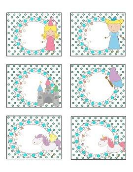 Adorable Princess, Unicorn and Pegasus Labels