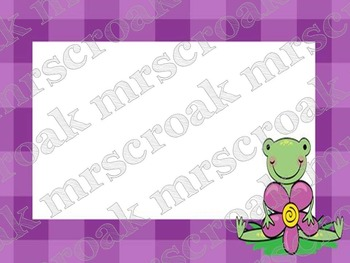 Labels: Frog with purple gingham, 10 per page
