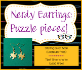 Adorable Puzzle Piece Earrings (perfect for Autism awareness)