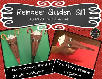 Christmas / Holiday Gift for Students - An Adorable Reinde