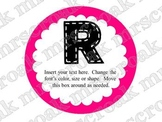 Bulletin Board Headers: round with bold colors (editable)