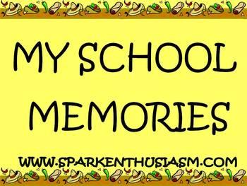 Adorable School Memories and Journals Scrapbook Unit