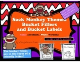 Adorable Sock Monkey Themed Have You Filled a Bucket Today Labels and Forms