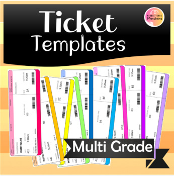 Adorable Ticket Templates