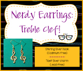 Adorable Treble Clef Earrings