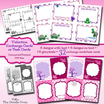 Valentine S Day Exchange Cards Blank Template By Heidi Babin Tpt