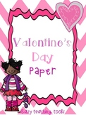Writing Paper for Valentine's Day (10 templates) for K-2