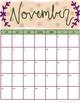 Adorable Watercolor 2018-2019 School Year Calendar