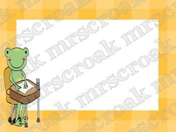Labels: Frog with yellow gingham, 10 per page