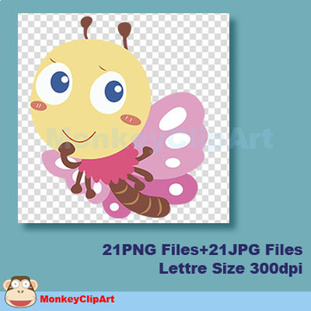 Adorable bugs Clipart Set