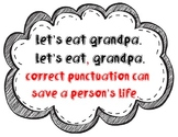 """Adorable, witty """"correct punctuation"""" sign!"""