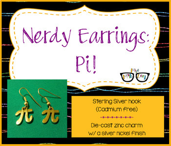 Adorably Math-y Pi Earrings (perfect for pi day!)