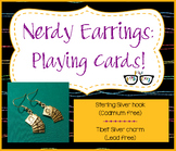 Adorably Math-y Playing Card Probability Earring