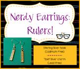 Adorably Math-y Ruler Earrings