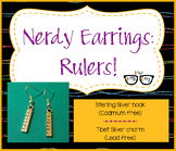 Adorably Math-y Ruler Earrings