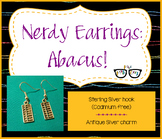 Adorably Nerdy Math Abacus Earrings