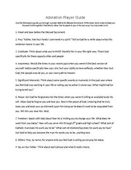 Adoration Prayer Guide
