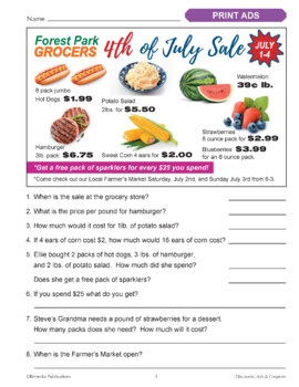 Ads & Coupons: Practical Practice Reading